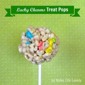 Lucky Charms Treat Pops + Free Printable