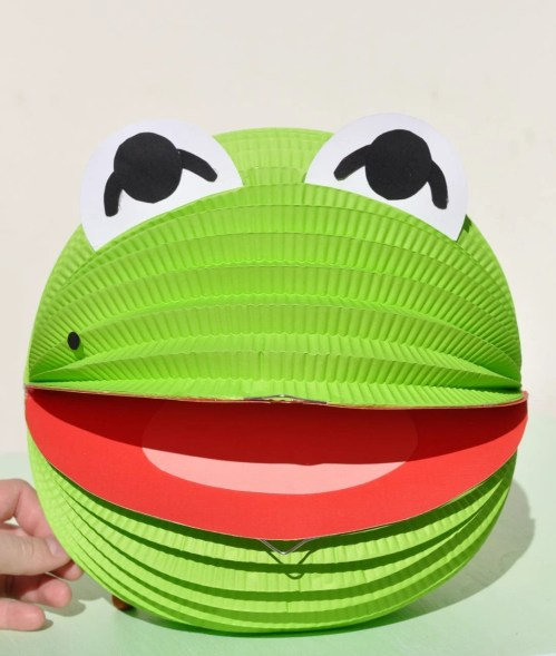 Kermit the Frog Paper Lantern Muppet Character Fun Craft for Kids to Make