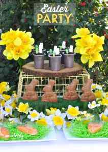 Easter Party + Bunny Pudding Cups