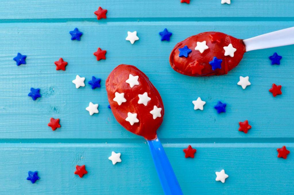 Patriotic Chocolate Truffle Spoons