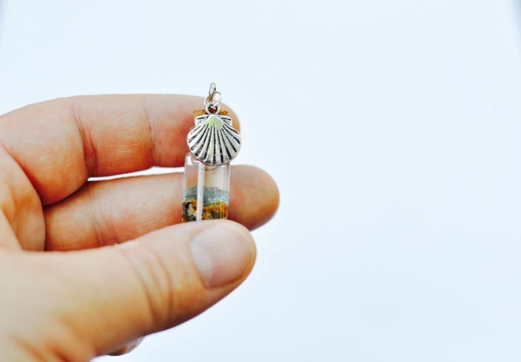 Memory Ocean Glass Bottle Charm Necklace