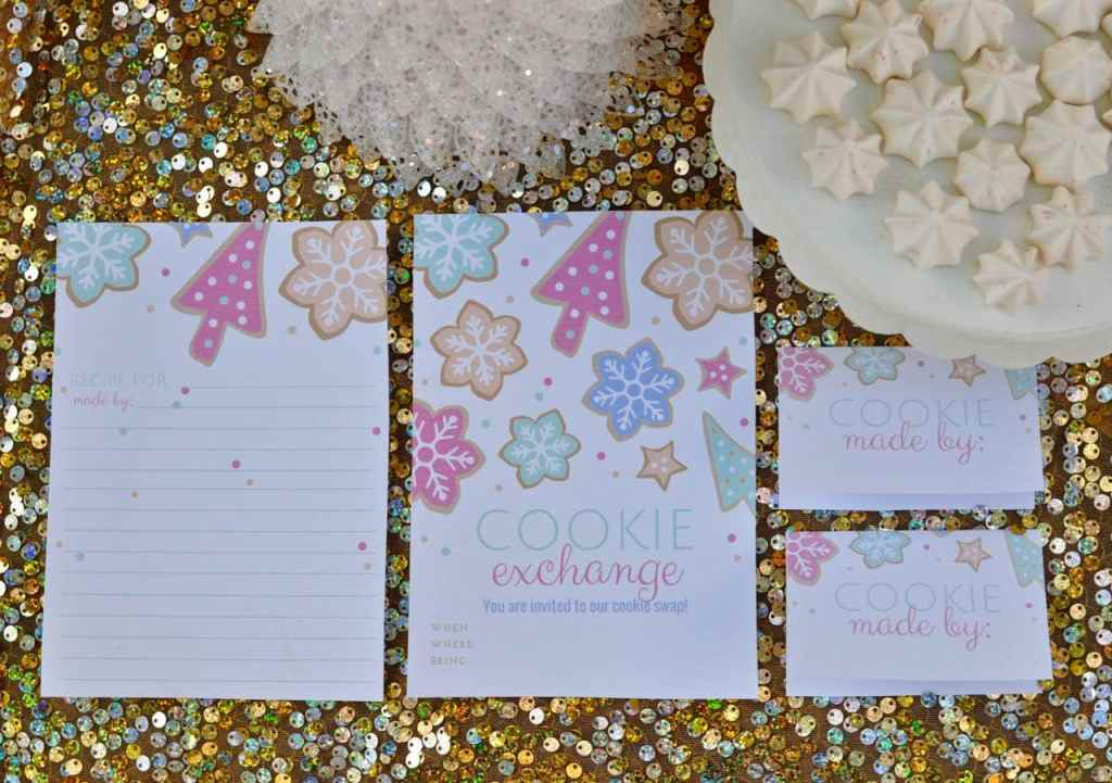Free cookie exchange printables