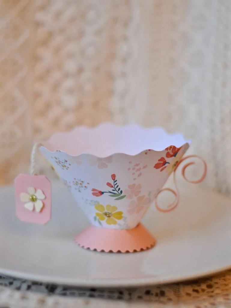Paper Teacup with Sizzix Brenda Walton die