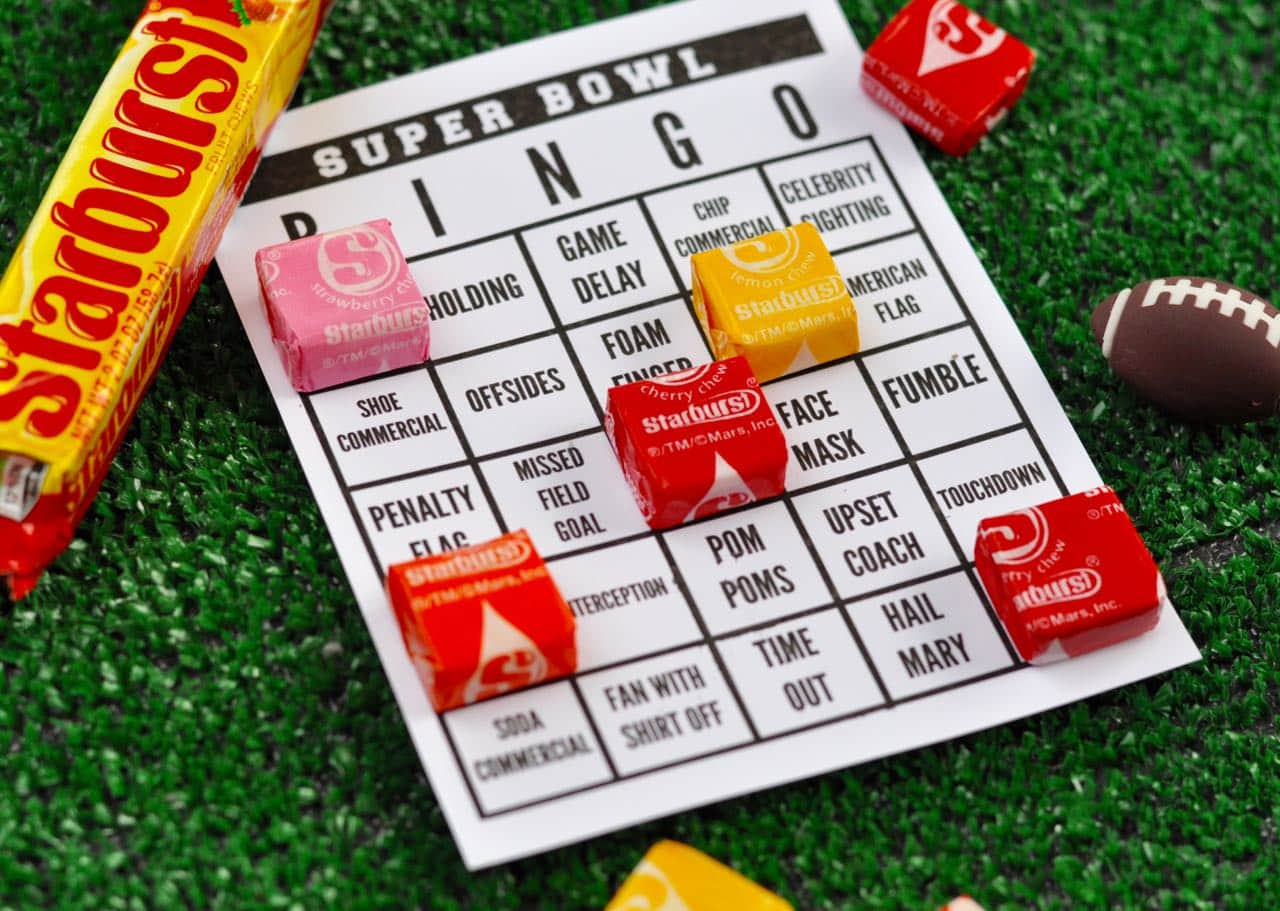 picture regarding Printable Super Bowl Bingo Cards identified as tremendous bowl bingo playing cards free of charge