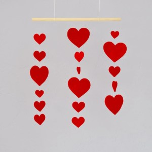 Heart Mobile DIY for Valentine's Day