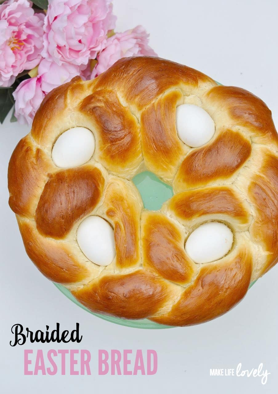 Make this delicious Braided Easter Bread for Easter dinner this year. Click for the recipe and instructions.