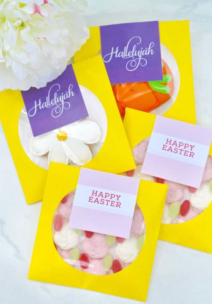 Free printable Easter favors