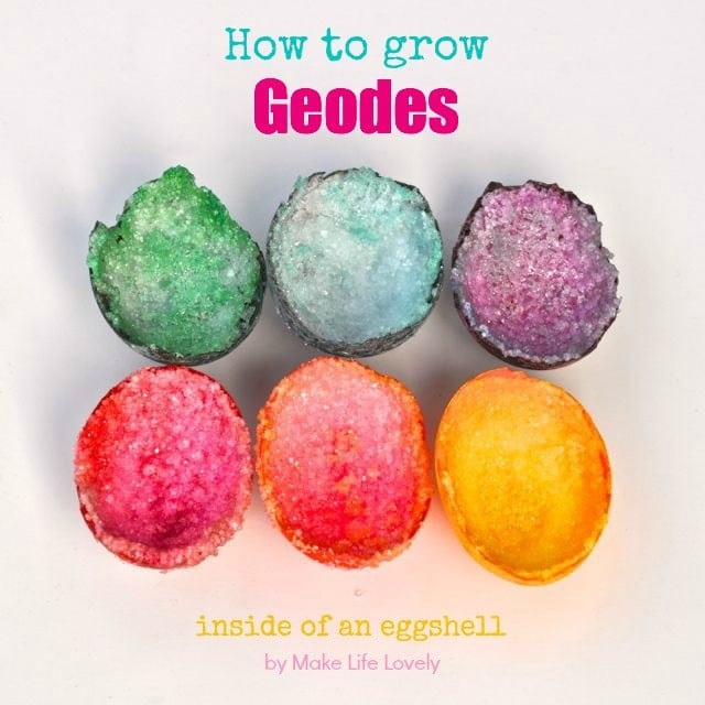 How to grow geodes in an egg shell