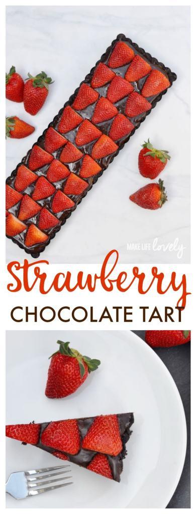 Strawberry Chocolate Tart Recipe. Wow them with this rich, indulgent dessert!