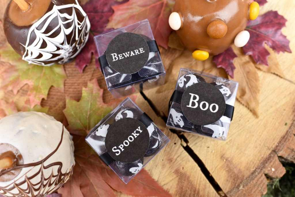 Haunted forest Halloween party treats favors