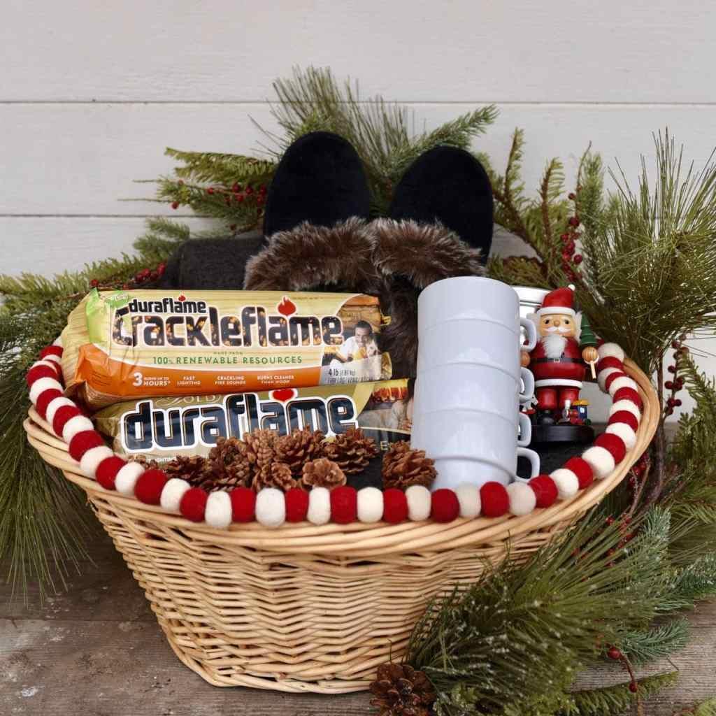 Cozy winter gift basket idea