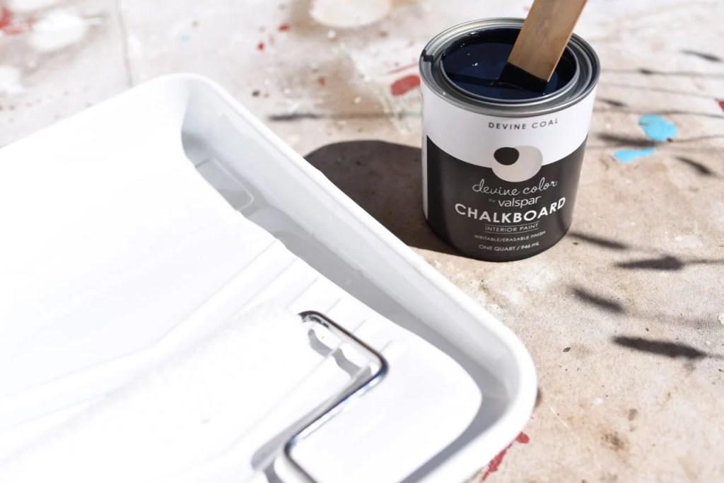 Chalkboard Paint Kids Closet Makeover