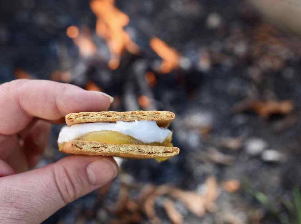 Lemon meringue s'mores recipe for summer camping