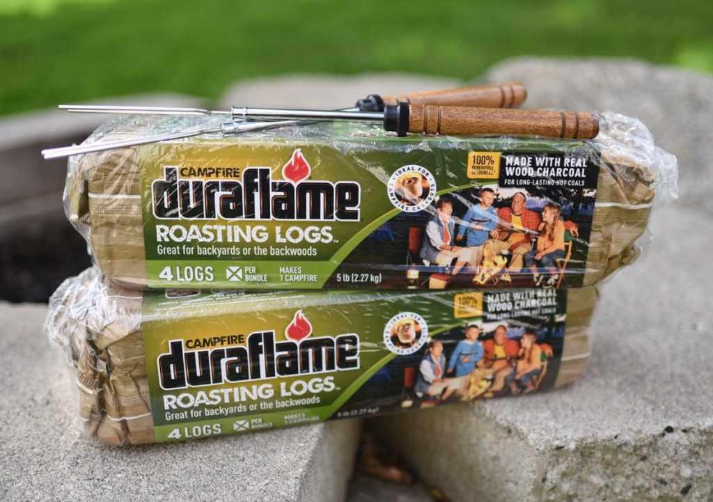 Lemon meringue s'mores with Duraflame Roasting Logs
