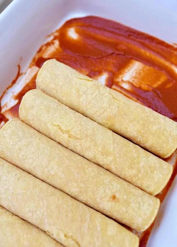 Chipotle cheese enchiladas