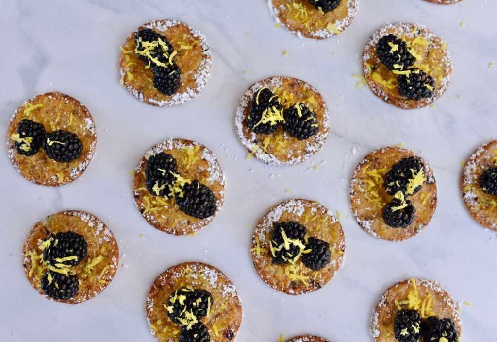 Lemon blackberry cranberry crackers appetizer idea