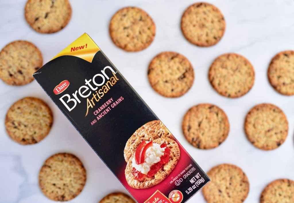 Lemon blackberry cranberry crackers with Breton Artisinal crackers