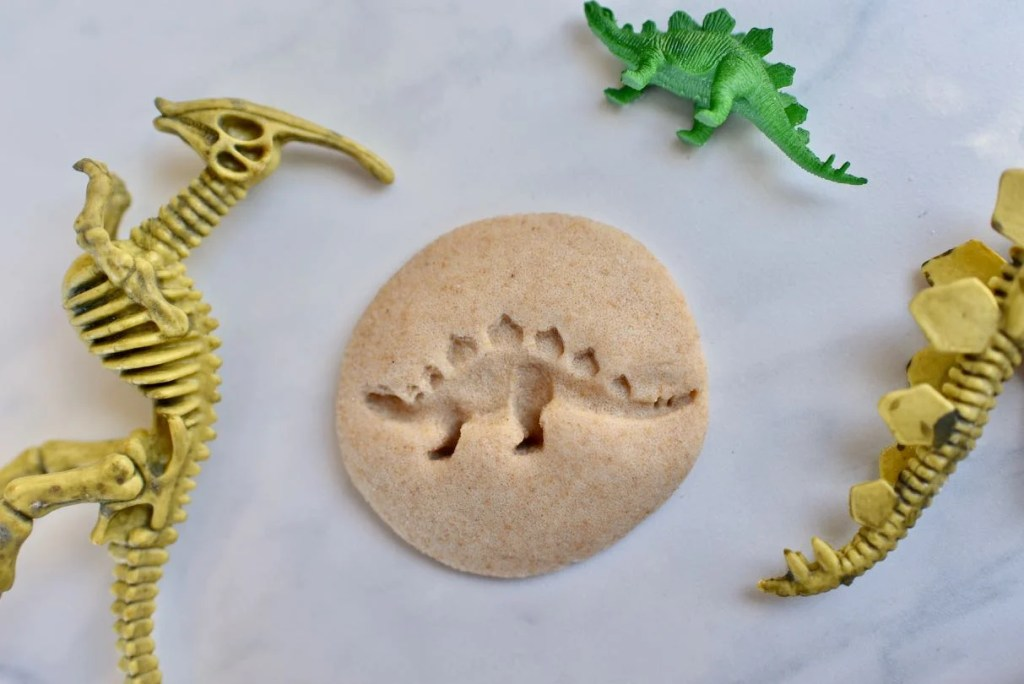 DIY dinosaur fossils tutorial with salt dough