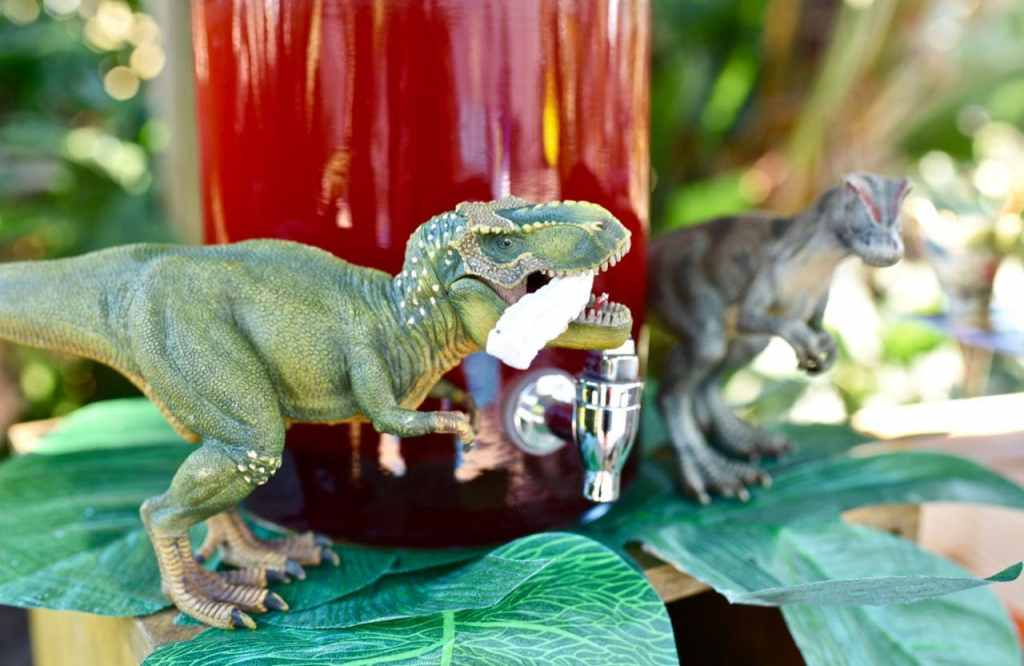 Lava drink at dinosaur party and dinosaur dig