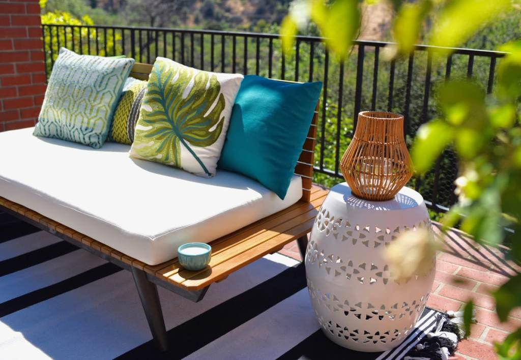 World Market backyard makeover Lance Bass home