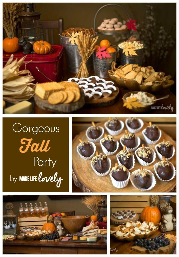 Fall party and acorn Oreo cookie balls