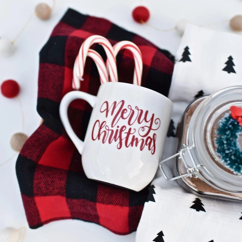 Hot cocoa gift basket Christmas gift with Cricut