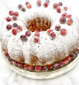 Orange Cranberry Bundt Cake and Festive Holiday Dinner Party