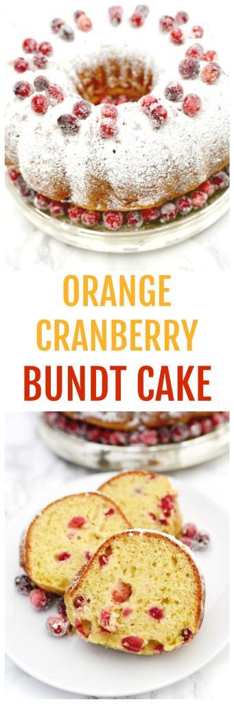 Orange cranberry bundt cake recipe