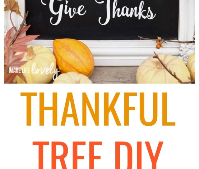 Thanksgiving Home Decor Tutorial That Is Easy To Make With The Kids