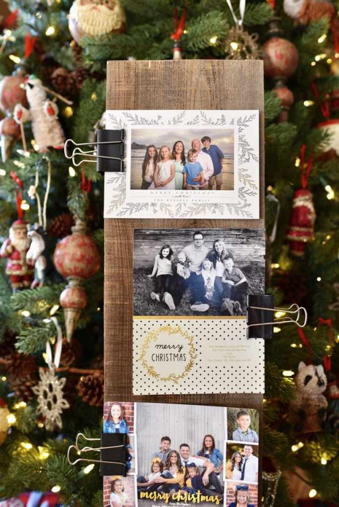 5 Minute DIY Christmas card holder