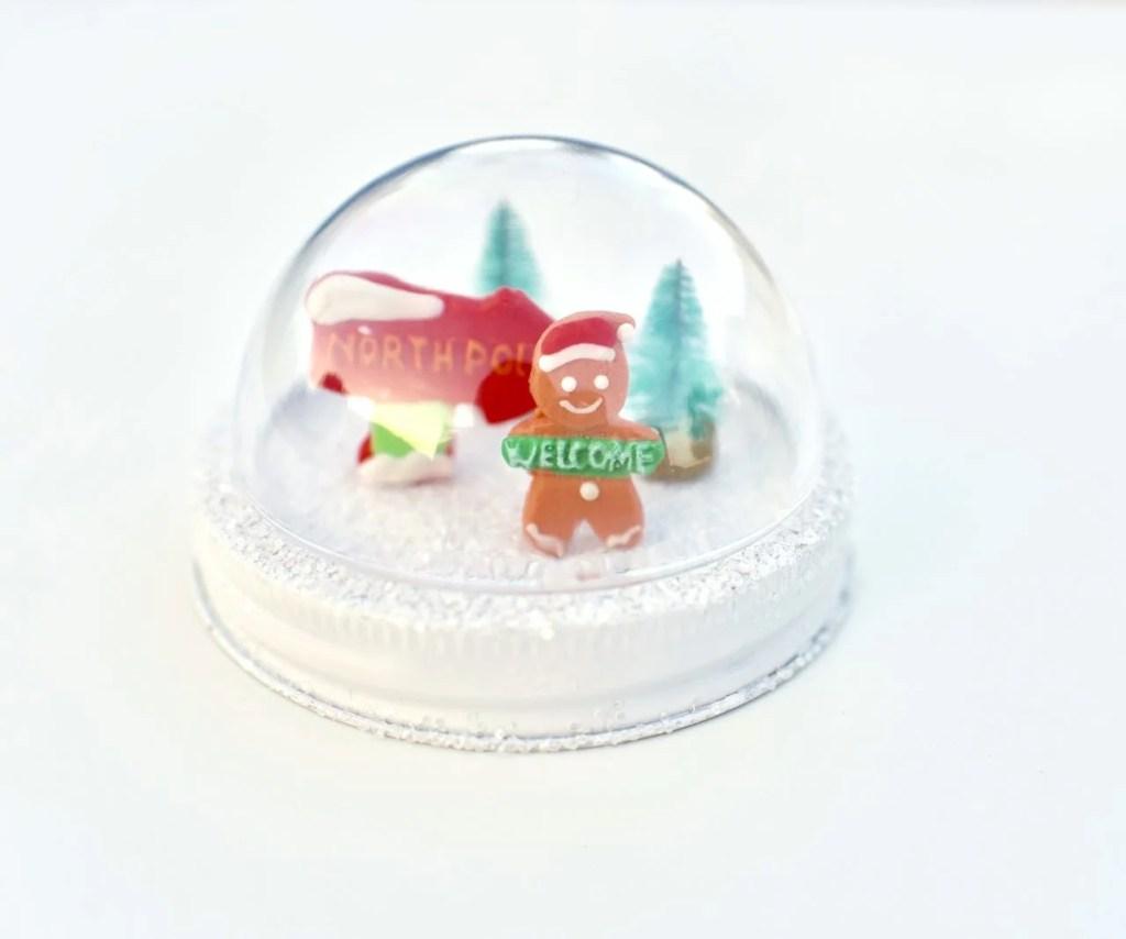 How to make mason jar snow globe toppers Christmas craft