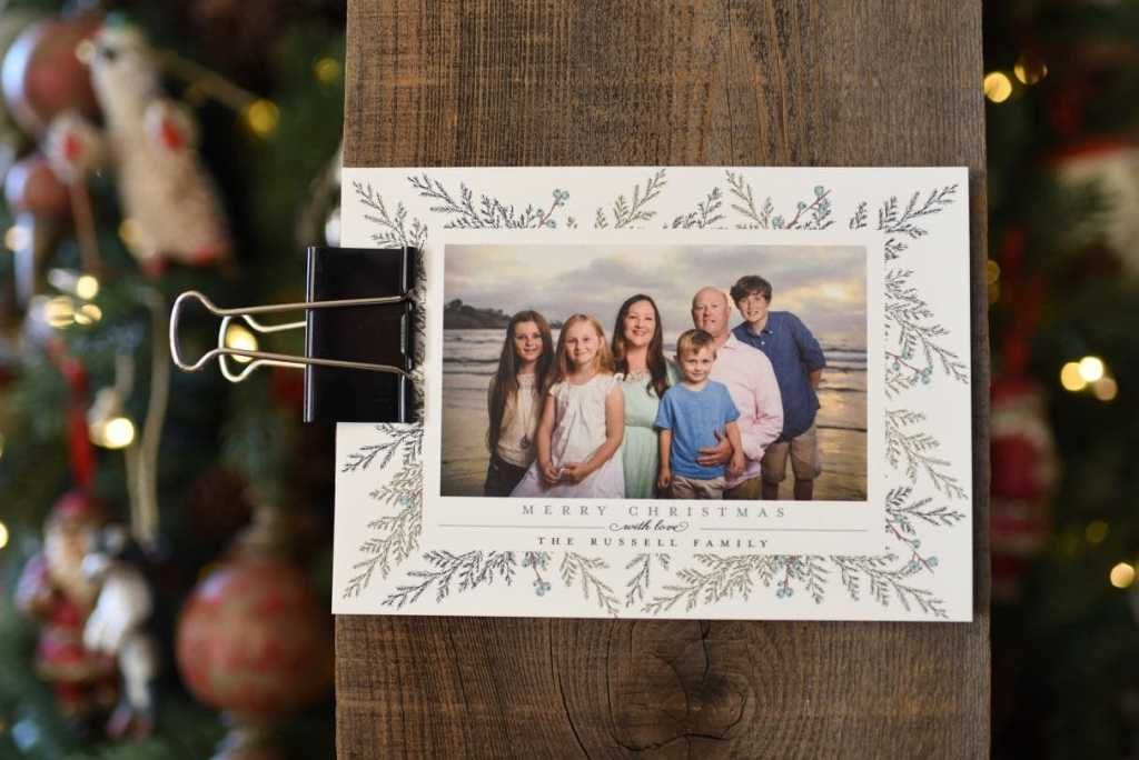 Simple rustic DIY Christmas card holder
