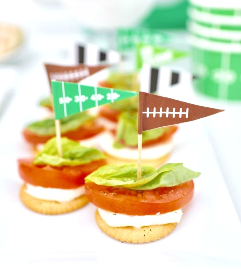 Caprese appetizers recipe, the perfect football food and party appetizer!