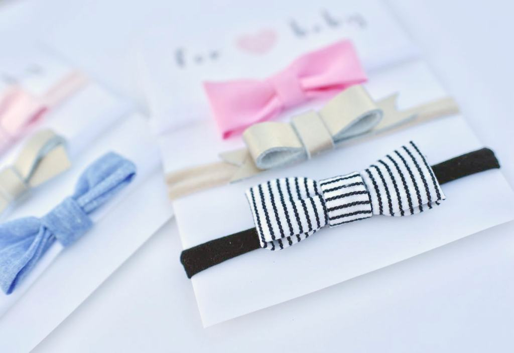 How to make baby hair bow headbands in minutes with NO sewing!