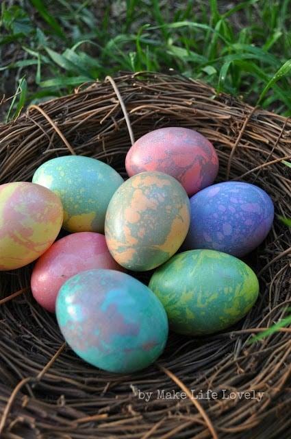 Marbled Easter Eggs Tutorial