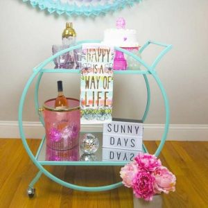 Spring Bar Cart Party Styling Tips + Tricks