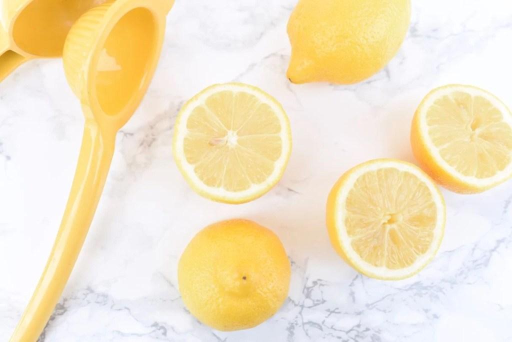 Fresh lemon juice for pineapple lemonade