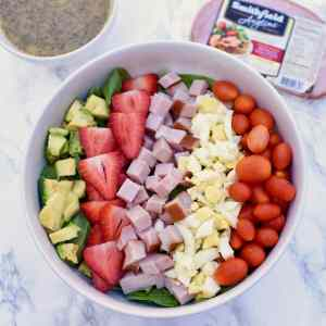 Summer Cobb Salad with Lemon Poppy Seed Vinaigrette