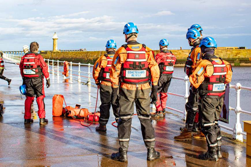 Coastguard Rescue Training at Whitby