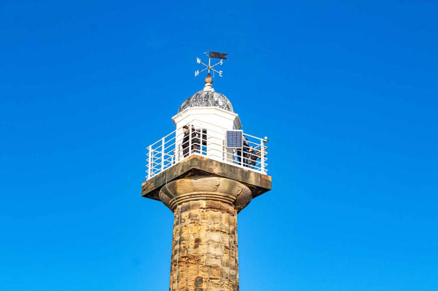 Top of Whitby Pier lighthouse