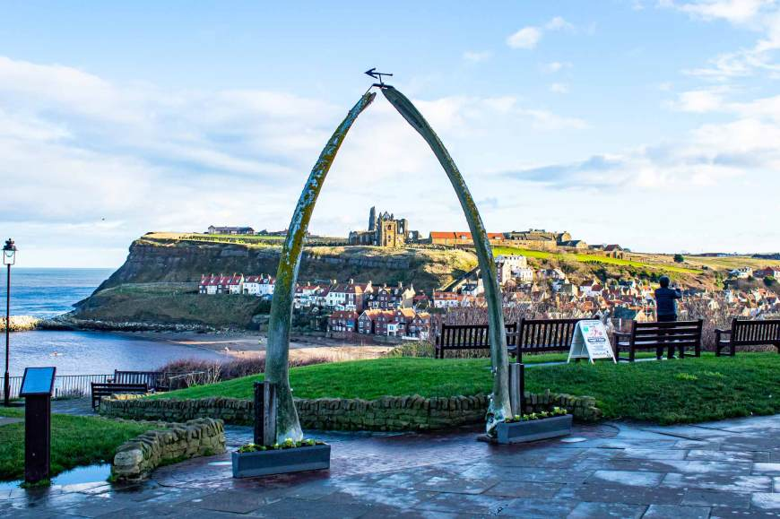 Whitby Abbey through Whalebone Arch