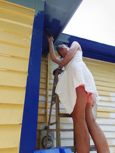 Day 2: Karen gets under the eaves.