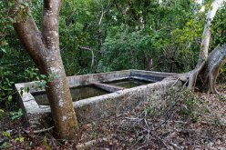Ruins of a cistern on the island.