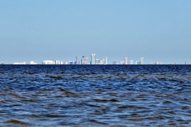 View of Tampa from the kayak.
