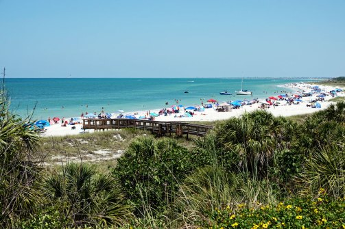 On Mother's Day we drove to the beach at Fort De Soto Park. It was incredibly crowded.