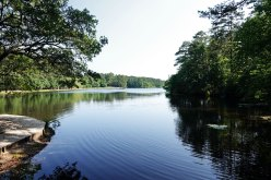 The lake at Sesquicentennial State Park.