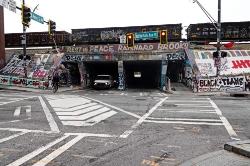The Krog Tunnel entrance going into Cabbagetown.