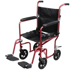 Drive Medical Transport Chair Ergonomic Gsa Flyweight Lightweight Wheelchair With