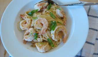 Shrimp with Orange Chipotle Cream