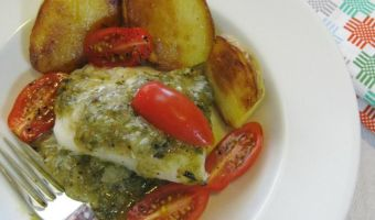Fish With Roasted Tomatillos and Potatoes